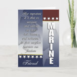 Patriotic Marine Troop Support Card for Friend