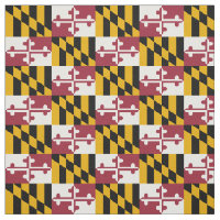 Patriotic Maryland State Flag Fabric