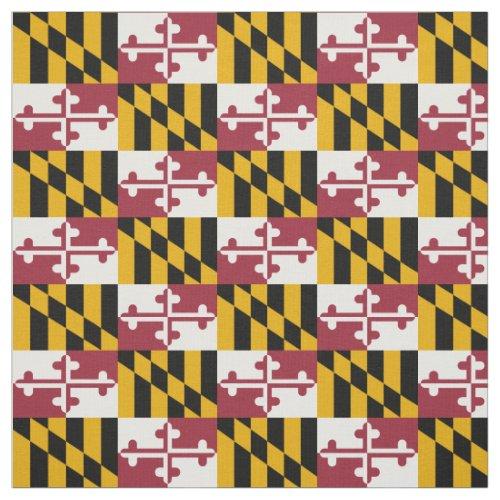 Patriotic Maryland State Flag Fabric