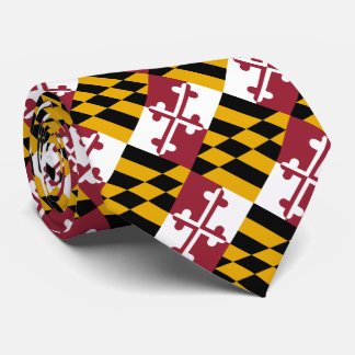 Patriotic Maryland State Flag Neck Tie