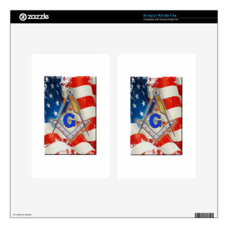 Patriotic Mason Decal For Kindle Fire