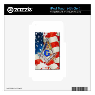 Patriotic Mason iPod Touch 4G Skins