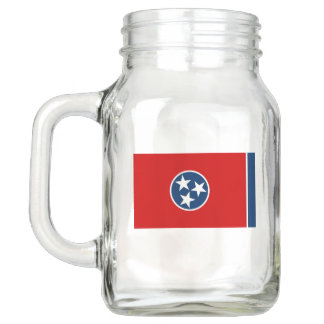 Patriotic Mason Jar with Flag of Tennessee