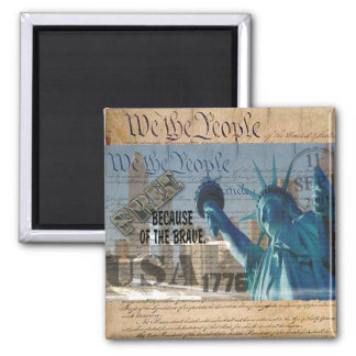 PATRIOTIC MEMORIAL 9-11-01 USA FREE BCOF THE BRAVE MAGNET