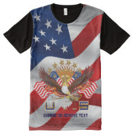 Patriotic Men's Pick Size All-Over Printed Panel All-Over Print T-shirt