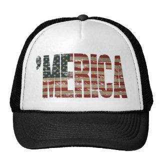 Patriotic 'MERICA Vintage Flag Hat