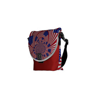 Patriotic messenger bag made in america.