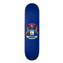 Patriotic Michigan State Flag Skateboard