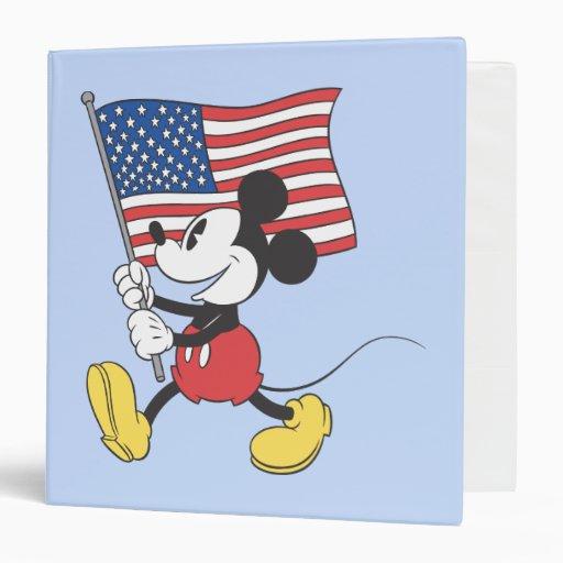Patriotic Mickey Mouse 1 Binders
