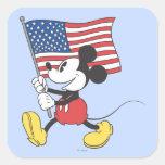 Patriotic Mickey Mouse 1 Square Sticker
