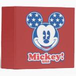 Patriotic Mickey Mouse 4 3 Ring Binder