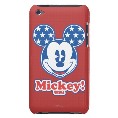 Patriotic Mickey Mouse 4 Barely There iPod Cover