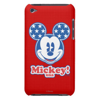 Patriotic Mickey Mouse 4 iPod Case-Mate Case