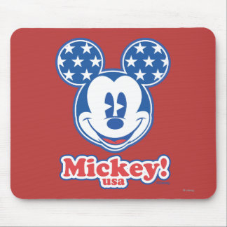 Patriotic Mickey Mouse 4 Mouse Pad