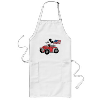 Patriotic Mickey Mouse in Red Convertible Long Apron