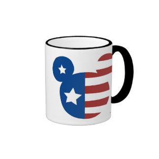 Patriotic Mickey Mouse Ringer Mug
