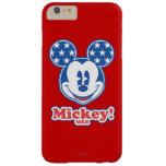 Patriotic Mickey Mouse Stars Barely There iPhone 6 Plus Case
