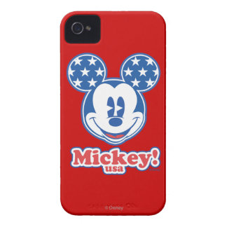 Patriotic Mickey Mouse Stars Case-Mate iPhone 4 Case