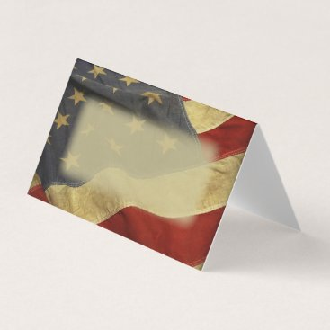 USA Themed Patriotic Military American Flag Place Card