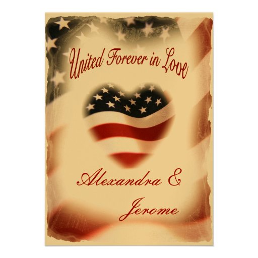 Patriotic Wedding Invitations is the best ideas you have to choose for invitation example