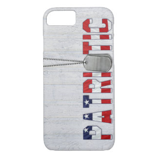 Patriotic military dog tags iPhone 8/7 case