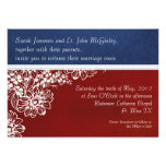 Patriotic Military Red White and Blue Wedding Custom Invitation