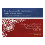 "Patriotic Military Red White and Blue Wedding 5"" X 7"" Invitation Card"