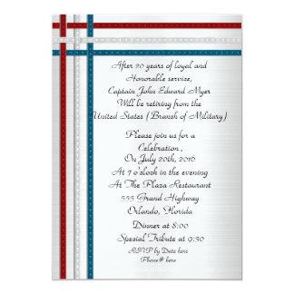 Patriotic military retirement party Invitation