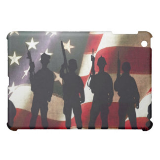 Patriotic Military Soldier Silhouette Case For The iPad Mini