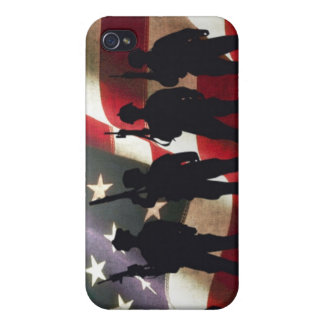 Patriotic Military Soldier Silhouette iPhone 4/4S Cover