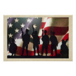 Patriotic Military Soldier Silhouette Poster