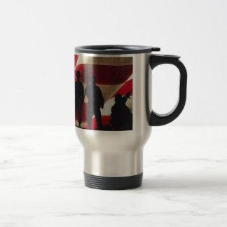 Patriotic Military Soldier Silhouettes Coffee Mug