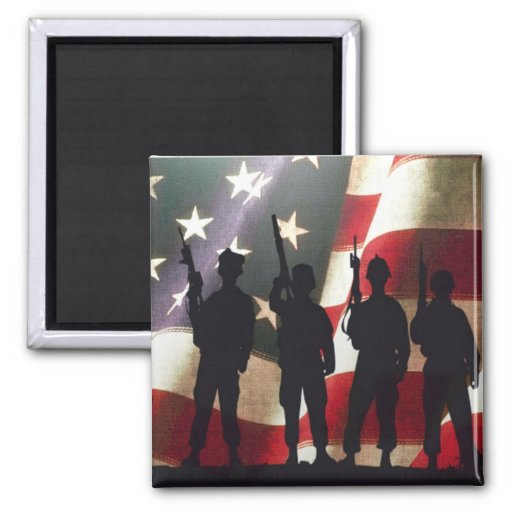 Patriotic Military Soldier Silhouettes Magnets