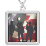 Patriotic Military Soldier Silhouettes Pendants