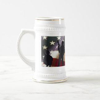 Patriotic Military Soldier Silhouettes Stein