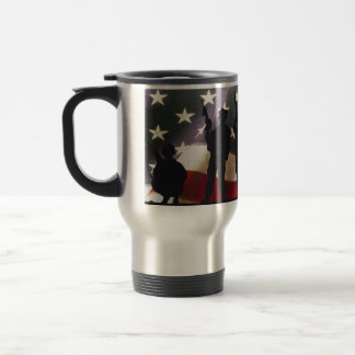 Patriotic Military Soldiers Silhouette Travel Mug