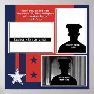 Patriotic Military Theme Photo Collage Poster