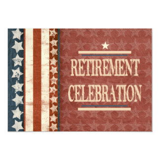 Patriotic Military Veteran Retirement Celebration 5x7 Paper Invitation Card