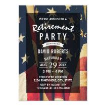 Patriotic Military Veteran Retirement Party Card