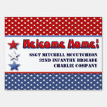 Patriotic Military Welcome Home Personalized Lawn Sign
