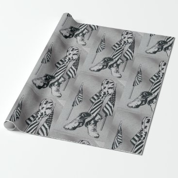 Patriotic Military Wrapping Paper