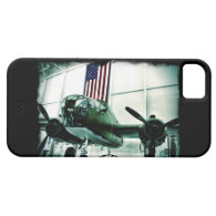 Patriotic Military WWII Plane with American Flag iPhone 5 Covers