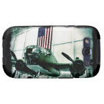 Patriotic Military WWII Plane with American Flag Galaxy SIII Covers