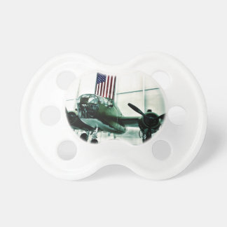 Patriotic Military WWII Plane with American Flag Pacifier