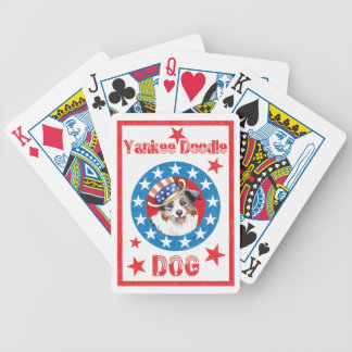 Patriotic Miniature American Shepherd Bicycle Playing Cards