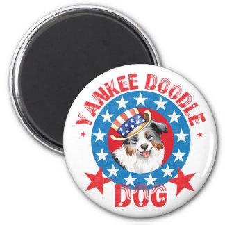 Patriotic Miniature American Shepherd Magnet