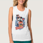 Patriotic Minnie Mouse Flowy Muscle Tank Top