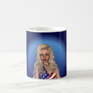 Patriotic Miss Independence Portrait Mug