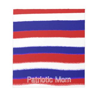 Patriotic Mom Note Pad
