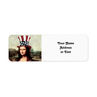 Patriotic Mona Lisa - Ready for Independence Day Label